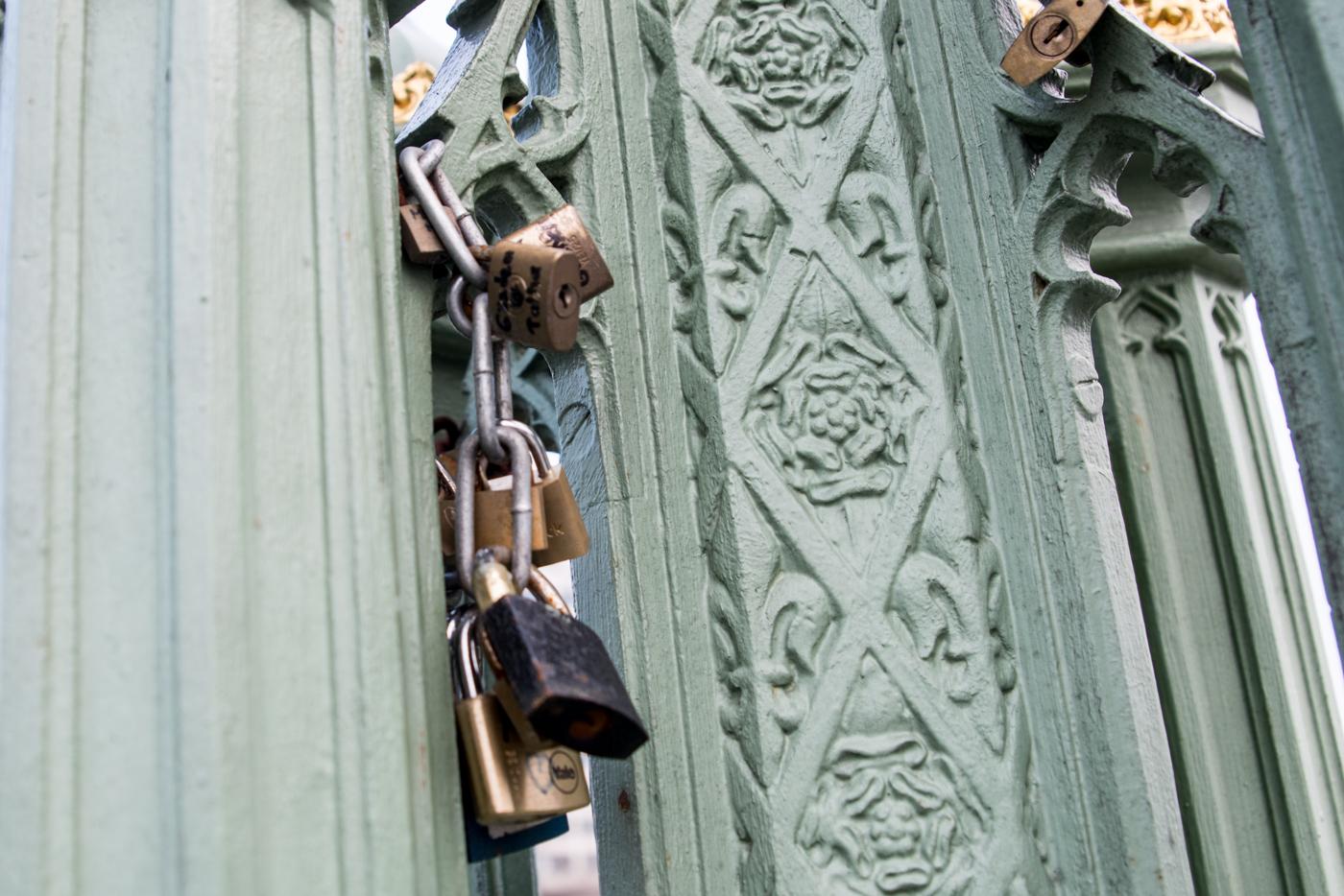 love locks in London